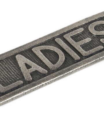 From The Anvil Ladies Sign – Antique Pewter