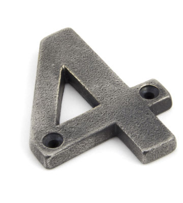 From The Anvil Antique Pewter Numeral 4