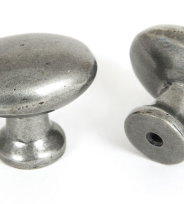 From The Anvil Oval Cabinet Knob – Pewter