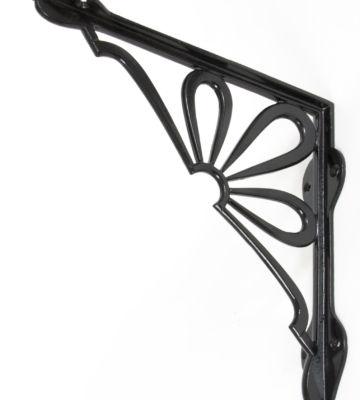 From The Anvil Black 9″ X 9″ Flower Shelf Bracket