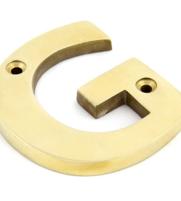From The Anvil Polished Brass Letter G