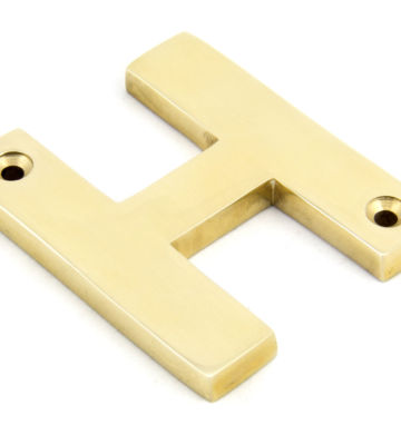 From The Anvil Polished Brass Letter H