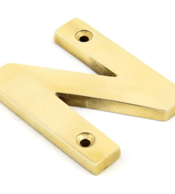 From The Anvil Polished Brass Letter N