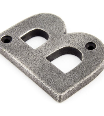 From The Anvil Antique Pewter Letter B