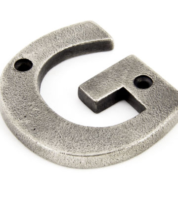 From The Anvil Antique Pewter Letter G