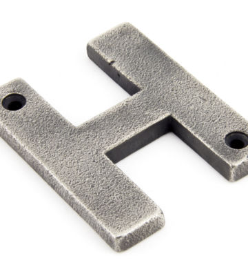 From The Anvil Antique Pewter Letter H
