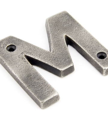 From The Anvil Antique Pewter Letter M