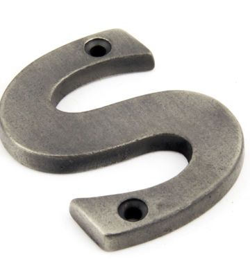 From The Anvil Antique Pewter Letter S
