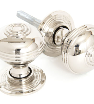 From The Anvil Polished Nickel Prestbury Mortice/Rim Knob Set – 50mm