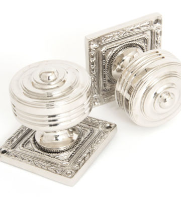 From The Anvil Polished Nickel Tewkesbury Square Mortice Knob Set
