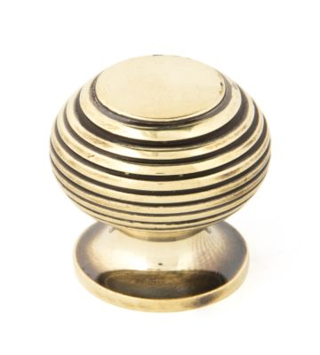 From The Anvil Aged Brass Beehive Cabinet Knob – Small