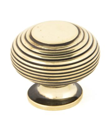From The Anvil Aged Brass Beehive Cabinet Knob – Large