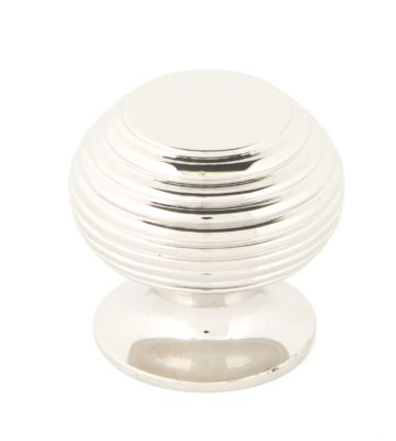 From The Anvil Polished Nickel Beehive Cabinet Knob – Small