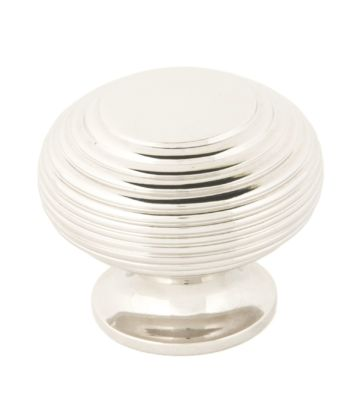 From The Anvil Polished Nickel Beehive Cabinet Knob – Large