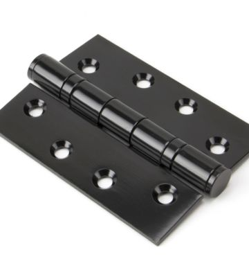 From The Anvil Black On SS 4″ Ball Bearing Butt Hinge (Pair)