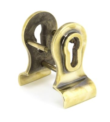 From The Anvil Aged Brass 50mm Euro Door Pull (Back To Back Fixings)