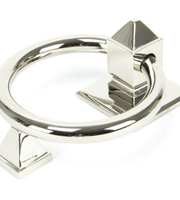 From The Anvil Polished Nickel Ring Door Knocker