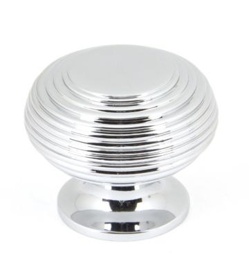 From The Anvil Polished Chrome Beehive Cabinet Knob – Large