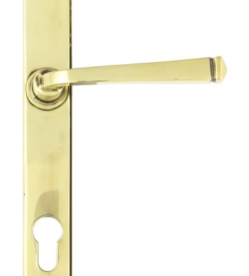From The Anvil Aged Brass Avon Slimline Lever Espag. Lock Set