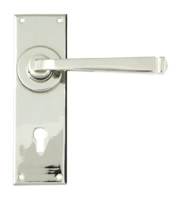 From The Anvil Polished Nickel Avon Lever Lock Set