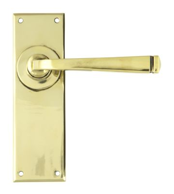 From The Anvil Aged Brass Avon Lever Latch Set