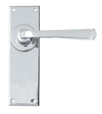 From The Anvil Polished Chrome Avon Lever Latch Set