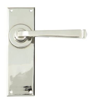 From The Anvil Polished Nickel Avon Lever Latch Set