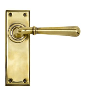From The Anvil Aged Brass Newbury Lever Latch Set