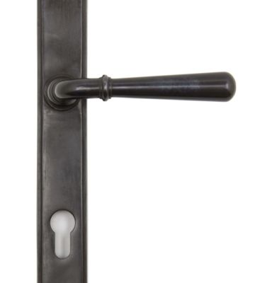 From The Anvil Aged Bronze Newbury Slimline Lever Espag. Lock Set
