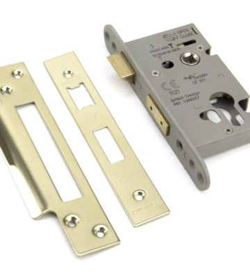 """From The Anvil PVD 2½"""" Euro Profile Sash Lock"""