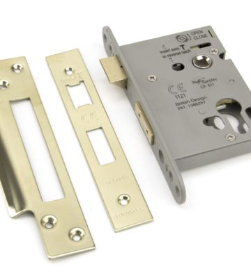 From The Anvil PVD 3″ Euro Profile Sash Lock
