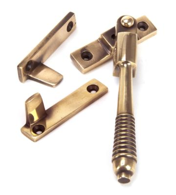 From The Anvil Polished Bronze Night Vent Reeded Fastener – Locking
