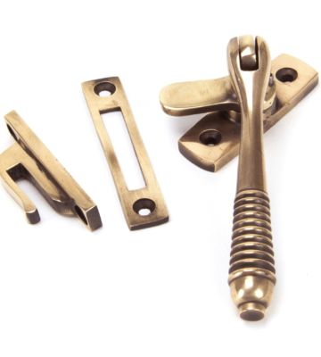 From The Anvil Polished Bronze Reeded Fastener – Locking