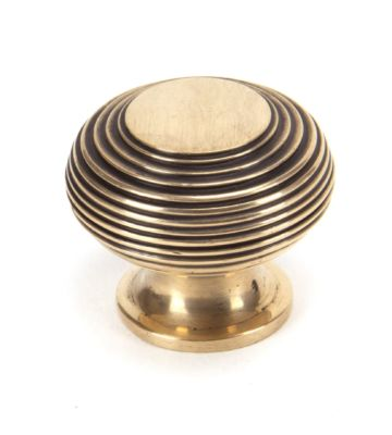From The Anvil Polished Bronze Beehive Cabinet Knob – Large