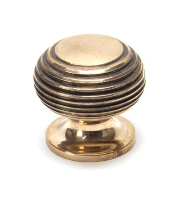 From The Anvil Polished Bronze Beehive Cabinet Knob – Small
