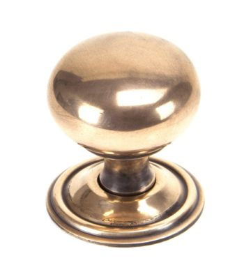 From The Anvil Polished Bronze Mushroom Cabinet Knob – Large