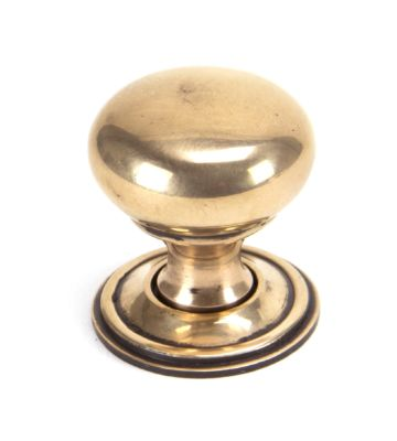 From The Anvil Polished Bronze Mushroom Cabinet Knob – Small