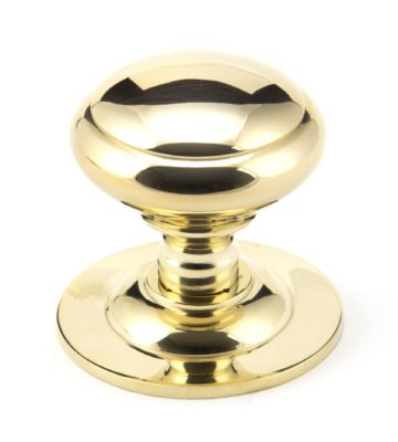 From The Anvil Polished Brass Centre Door Knob