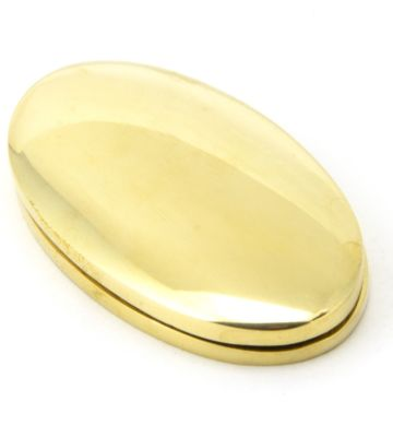 From The Anvil Polished Brass Oval Escutcheon & Cover