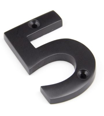 From The Anvil Aged Bronze Numeral 5