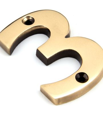 From The Anvil Polished Bronze Numeral 3