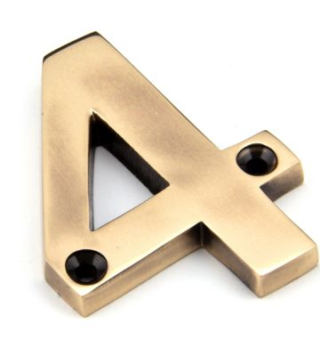 From The Anvil Polished Bronze Numeral 4