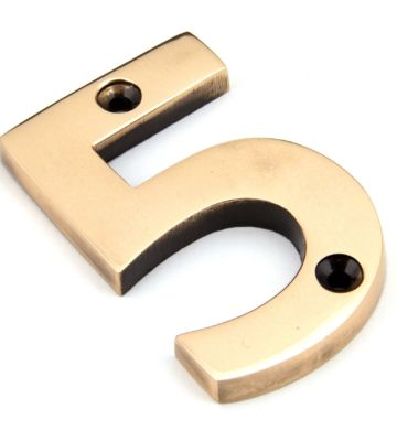From The Anvil Polished Bronze Numeral 5