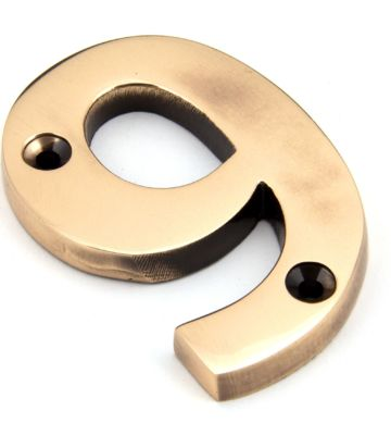 From The Anvil Polished Bronze Numeral 9