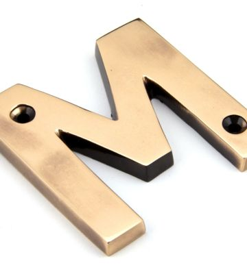 From The Anvil Polished Bronze Letter M