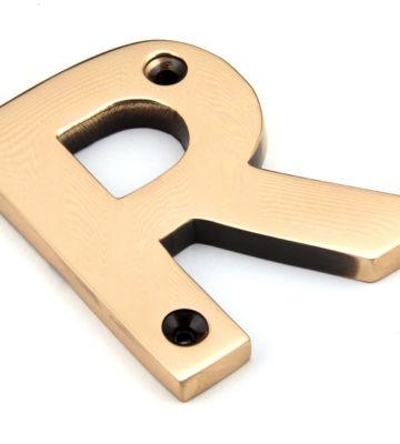 Polished Bronze Letter R