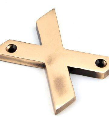 Polished Bronze Letter X