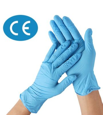 100 X CE Marked Nitrile Gloves – Large