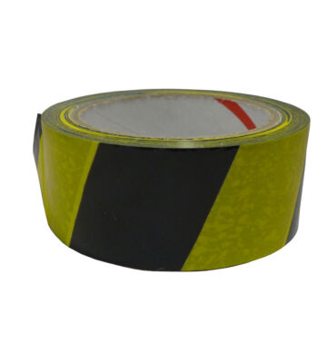 Yellow & Black Hazard Tape 33mtr