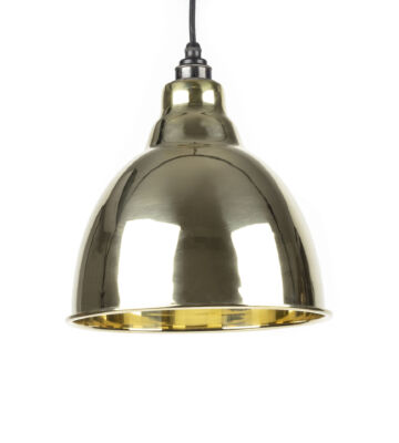 From The Anvil Smooth Brass Interior Brindley Pendant